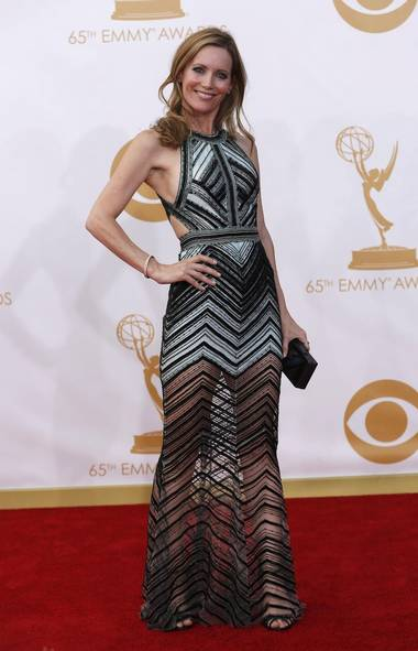 Actress Leslie Mann arrives at the 65th Primetime Emmy Awards in Los Angeles September 22, 2013. (MARIO ANZUONI/REUTERS)