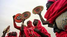 Darfuri women participate in a peace rally on International Peace Day at the town of Al -Fashir in Sudan's North Darfur region on Sept. 23, 2013. (MOHAMED NURELDIN ABDALLAH/REUTERS)