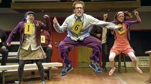 Alison MacDonald, Josh Epstein and Tracy Neff in The 25th Annual Putnam County Spelling Bee. (David Cooper)