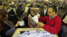 Egyptian election officials count ballots in Cairo on Nov. 29, 2011. (Mahmud Hams/AFP/Getty Images/Mahmud Hams/AFP/Getty Images)