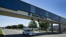 The GM car plant in Oshawa, Ont., shown on July 20, 2013. (PETER POWER/THE GLOBE AND MAIL)