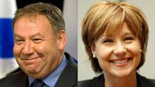 Nova Scotia Premier Darrell Dexter and British Columbia's Christy Clark are shown in a photo combination. (The Canadian Press and The Globe and Mail)