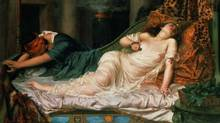 Drama queen: Reginald Arthur's 1892 painting The Death of Cleopatra