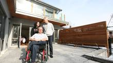 Left to right, Helen Graham, James Retallack, Don Loucks at the Sunnylea home. (Dave LeBlanc for The Globe and Mail)