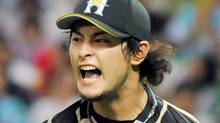 Japanese pitcher Yu Darvish of . Getty Images / JIJI PRESS (JIJI PRESS/Getty Images)