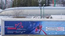 Police are investigating a double fatality at WinSport Canada on the bobsled/luge track where 8 male teens accessed the track and attempted to ride down on their own toboggans. (Chris Bolin/The Globe and Mail)