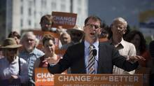 British Columbia NDP Leader Adrian Dix during a campaign stop in Vernon on May 8, 2013. (John Lehmann/The Globe and Mail)