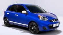 The all-new 2015 Nissan Micra will feature a starting Manufacturer's Suggested Retail Price (MSRP) of just $9,998 CDN when it goes on sale this spring, making it Canada's lowest MSRP. (Nissan/Wieck)