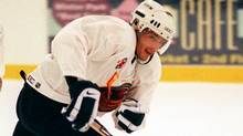 Atlanta Thrashers center Patrik Stefan heads up the ice during a scrimmage at their training camp at the RDV Sportsplex in Maitland, Fla., Monday, Sept. 6, 1999. (Associated Press)