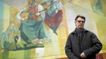 Richard Tetrault drew inspiration from Etruscan and Byzantine frescos for his murals at the Russian Hall in Strathcona. (John Lehmann/The Globe and Mail/John Lehmann/The Globe and Mail)