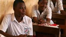 Students enrolled in Campaign for Female Education (Camfed) in Ghana. (Camfed / Jonathan Birch/THE MASTERCARD FOUNDATION)