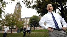 Jim Power, outgoing principal of Upper Canada College, is pictured at the prestigious private school for boys in Toronto on Oct. 10, 2007. He will be replaced by Samuel McKinney, who is currently the deputy headmaster and head of the senior school at St. Peter's College in Adelaide, South Australia. (Fred Lum/The Globe and Mail)