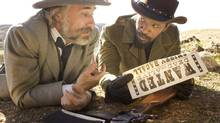 Django Unchained, featuring Christoph Waltz, left, and Jamie Foxx, is a long shot for Best Picture. (Handout)