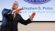 Bank of Canada Governor Stephen Poloz delivers a speech to students and business leaders at Western University's Ivey School of Business in London, Ont. on Tuesday, Feb. 24, 2015. THE CANADIAN PRESS/ Mark Spowart
