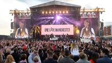 Ariana Grande performs at One Love Manchester concert to benefit victims of the Manchester Arena terror attack (Dave Hogan/One Love Manchester/REUTERS)