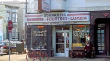 Nearly a century old, St. Francis Fountain is now the area's meeting place for hip brunches.
