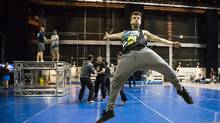 45 Degrees, once a department but now a subsidiary of Cirque du Soleil, will perform at the weekend's NBA all-star game in Toronto. (Mark Blinch For the Globe and Mail)