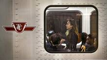 Transit has quickly become the hot-button issue of the Toronto mayoral campaign. <137>Commuters ride a TTC subway west from Kennedy Station in Scarborough, Ontario Wednesday, September 25, 2013. (Kevin Van Paassen/The Globe and Mail)<137> (Kevin Van Paassen/The Globe and Mail)