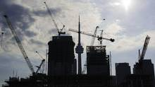Condominiums are seen under construction in Toronto, July 10, 2011. (MARK BLINCH/REUTERS)