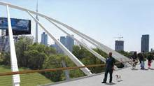 An artist's rendering of the Fort York bridge.