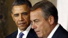 U.S. President Barack Obama and Speaker of the House John Boehner. (KEVIN LAMARQUE/REUTERS)