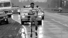 Terry Fox in northern Ontario on Aug.13, 1980, died the following June, a month short of his 23rd birthday, his goal of raising $24.1-million for cancer research, a dollar for every Canadian, achieved. (Dennis Robinson/The Globe and Mail)