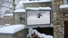 SunBriteTV outdoor television set.