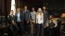 The cast of Bitten includes, from left, Joel Keller, Steve Lund, Paulino Nunes, Michael Xavier, Laura Vandervoort, Greyston Holt, Greg Bryk. (THE CANADIAN PRESS)