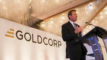 Chuck Jeannes, outgoing CEO of Goldcorp, will be replaced by David Garofalo on Monday rather than in April as scheduled. (Ben Nelms/REUTERS)