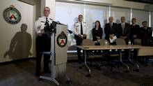 Toronto Police Superintendent Ron Taverner of 23 Division says last Friday's shootings, which wounded four people, were definitely gang-related. (Peter Power/The Globe and Mail)