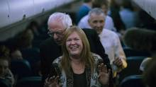 The Circus: Inside the Greatest Political Show on Earth, a new series airing on The Movie Network, has a scene where Senator Bernie Sanders jokes around with his wife, Jane Sanders, while on the campaign trail in Iowa. (TODD HEISLER/NYT)