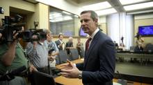 Former premier Dalton McGuinty also blasted media Tuesday for passing judgment from the sidelines. (Kevin Van Paassen/The Globe and Mail)