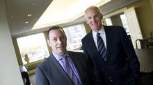 Elan Pratzer, left, managing partner for Canada, and CEO John Wallace don't mind that Caldwell is a mid-tier firm. (Kevin Van Paassen/The Globe and Mail)