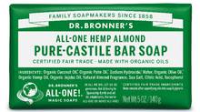 Dr. Bronner's Pure-Castile Bar Soap uses fair-trade ingredients with zero chemical additives.