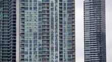 High-rise condos line Toronto's waterfront. (Moe Doiron/The Globe and Mail)