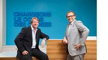 David Leonard, president and COO, DDB Canada (left) and Sébastien Fauré, CEO, Bleublancrouge (right) announced Wednesday that the two agencies have formed a partnership to serve clients in Quebec. (DDB Canada)