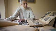 Shirley Olafsson who competed for Canada in the 1948 Olympics in the high jump looks over a bit of memorabilia from that time at her home in Richmond, BC July 20, 2012. (John Lehmann/The Globe and Mail)