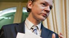 Julian Assange, founder of whistle-blowing website WikiLeaks, holds a news conference in Geneva on Nov. 4, 2010. (Valentin Flauraud/REUTERS)