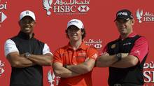 Tiger Woods, Rory McIlroy, Lee Westwood