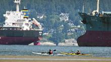 Oil-tanker traffic has increased in Burrard Inlet. (John Lehmann/The Globe and Mail)
