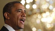 """U.S. President Barack Obama delivers a statement on the U.S. """"FiscalCliff"""" in the East Room of the White House in Washington, November 9, 2012. (Jason Reed/Reuters)"""