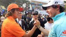 Rickie Fowler and Rory McIlroy (Ynag Young-suk)
