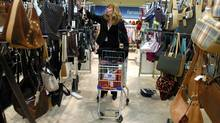 A customer shops at a Winners store in Toronto. (DEBORAH BAIC/DEBORAH BAIC PHOTOGRAPHY)