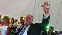 Even Rob Ford's critics attend his annual Ford Fest (Peter Power/The Globe and Mail)