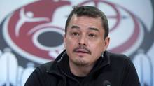 National Chief of the Assembly of First Nations Shawn Atleo speaks at a news conference in Ottawa on January 10, 2013. (Adrian Wyld/THE CANADIAN PRESS)