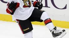 Stéphane Da Costa is just one Ottawa Senator called up from the AHL this season. (JASON COHN/REUTERS)