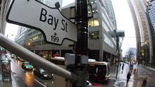 A Bay Street sign, the main street in the financial district is seen in Toronto, January 28, 2013. (MARK BLINCH/REUTERS)