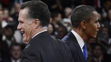 Whether Mitt Romney or Barack Obama win the election, the markets will likely underperform during the first two years of their term and outperform in the last two, the Presidential Cycle shows. (POOL/REUTERS)