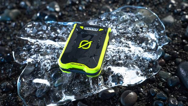 The Goal Zero Venture 30 is an weather-proof, easy-to-use smartphone recharger featuring a built-in charging cable.