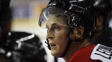 Vincent Lecavalier watches the action during the Olympic hockey orientation camp in Calgary on Tuesday. (Jeff McIntosh)